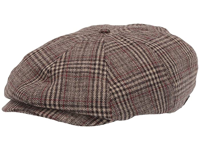 Men's Vintage Style Hats Brixton Brood Snap Cap Khaki Plaid Caps $35.99 AT vintagedancer.com