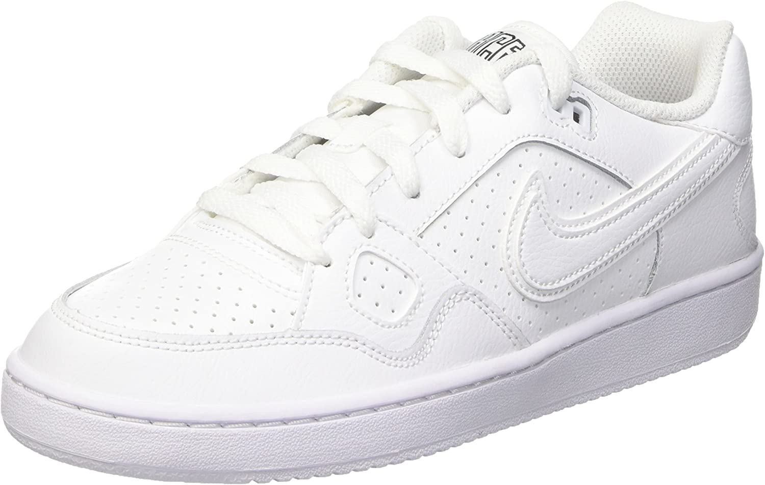 Nike Boys Son of Force Low (GS) Basketball Shoes White White White 615153 109