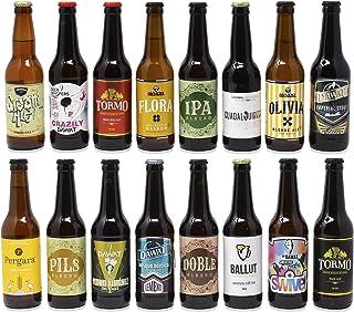 comprar comparacion Pack de cerveza artesana. 16 Cervezas Artesanas de las mejores marcas. El mejor regalo. Incluye Río Azul Flora, medalla de...
