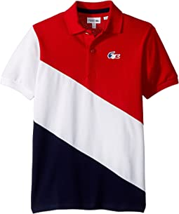 Lacoste Kids - Short Sleeve Spirit Edition Tricolor Polo (Little Kids/Big Kids)