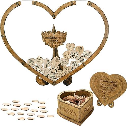 high quality Personalized popular Wedding Guest Book Alternative, Wedding Drop Box, Wedding Decor, Rustic Wedding, Guest Book Sign, Heart Shape, Wooden Guest 2021 Book online sale