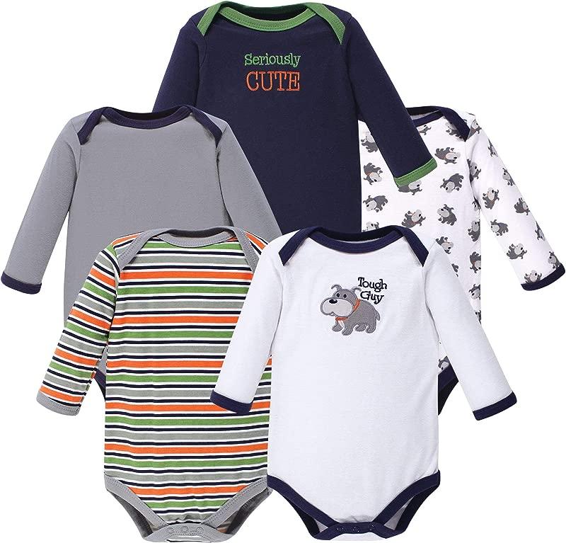 Luvable Friends Unisex Baby Long Sleeve Bodysuits