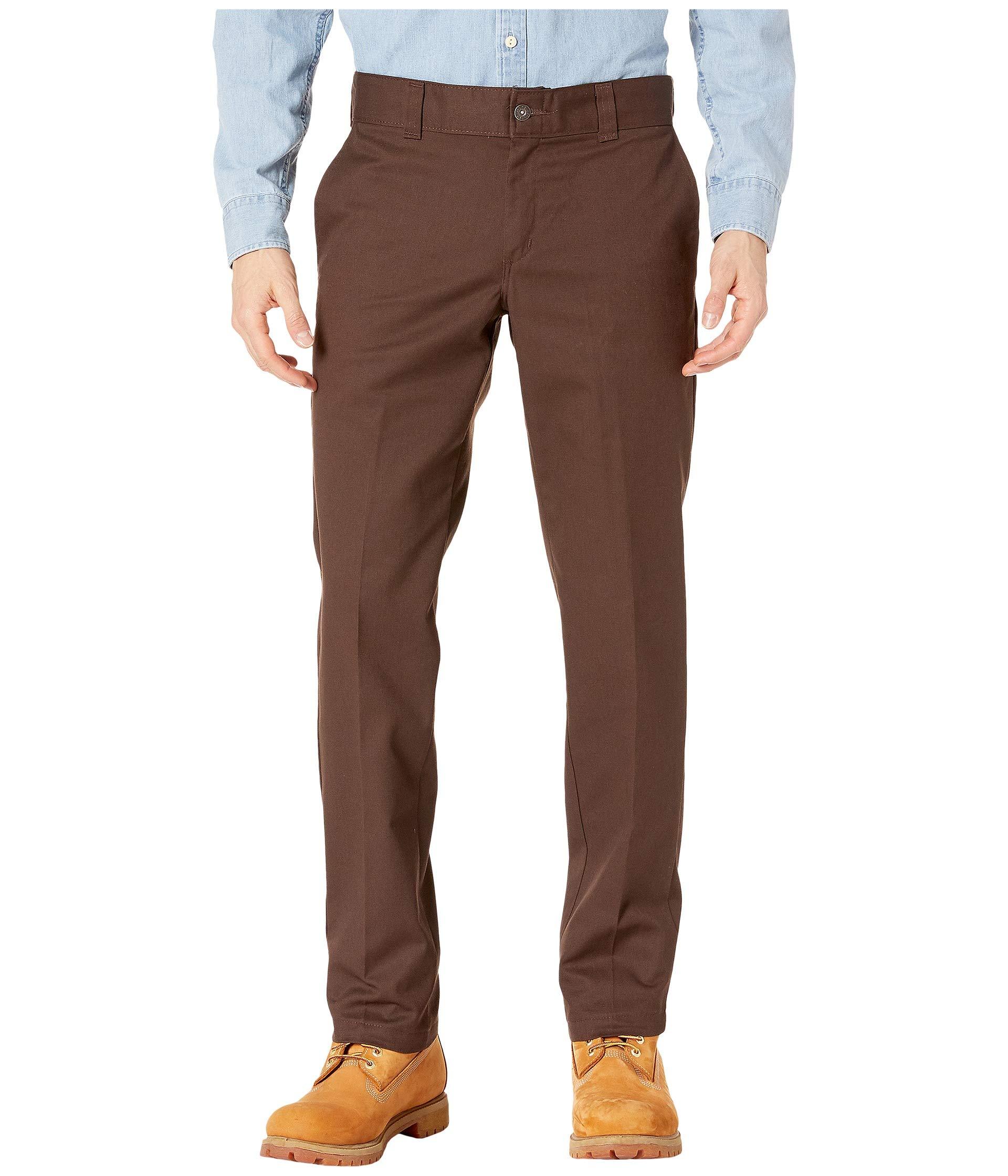Brown Pants Industrial Chocolate Dickies Work Collection Fit Slim 67 x6qwaYA8