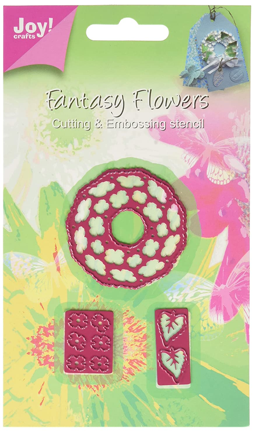 Joy! Crafts Cutting and Embossing Die, 3D Fantasy Wreath