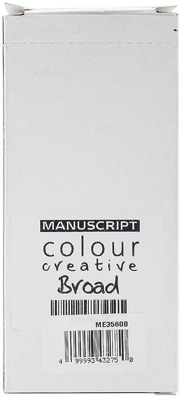 ATH Press Manuscript Colour Creative Markers Broad Tip (12 Pack)