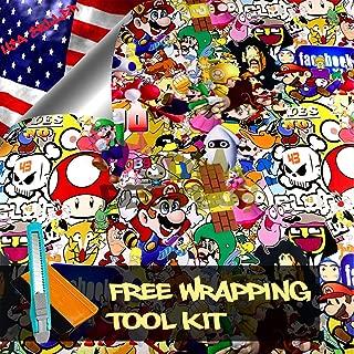 Free Tool Kit Mao JDM Bomber Anime Graffiti Cartoon Car Auto Laptop Vinyl Wrap Sticker Decal Film Sheet - 24