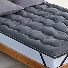 SLEEP ZONE Mattress Topper Cover Cooling Ultra Soft Fluffy Optimum Cushioning Down Alternative Bed Topper 8-21 Inch Deep P...