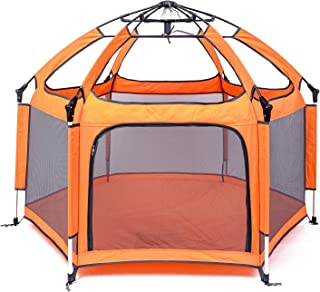 Portable Playpen - Lightweight, Folding, Easily Collapsible Playard Crib for Indoor & Outdoor Play - Perfect Canopy Play P...