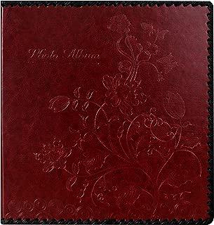 Beautyus Photo Album Book, Family Album, Leather Cover, Holds 3x5, 4x6, 5x7, 6x8, 8x10 Photos (Wine Red, M)