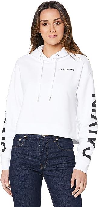 Calvin Klein Jeans Women's Logo Cropped Hoodie