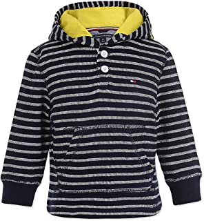 Tommy Hilfiger Toddler Boys Striped Pullover Hoodie Swim Navy 3T