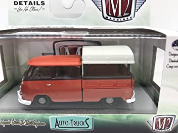 M2 Machines  1960 VW Double Cab Truck w//Canopy AUTO TRUCKS Release 54 Red 1:64