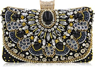 Evening bags shining women gold diamond pearl beads clutches handbags ladies wedding purses party bags