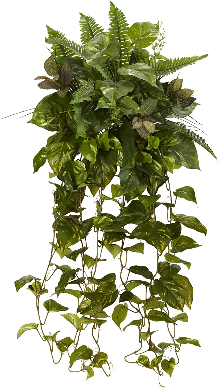 """Nearly Natural 36"""" Mixed Greens 日本限定 人気の製品 Hanging Pl Set of 2 Artificial"""