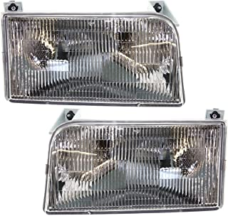 Tiffin Allegro Bay 2001-2003 RV Motorhome Pair (Left & Right) Replacement Front Headlights with Bulbs