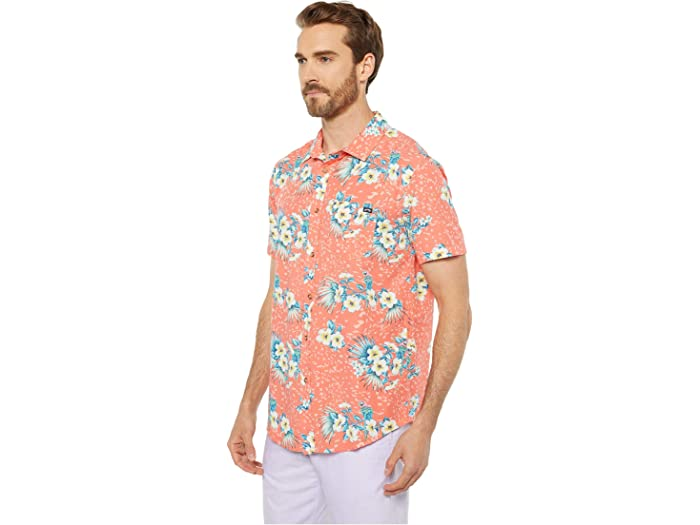 Billabong Domingos Floral Manga Corta Coral Shirts & Tops