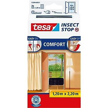 100 cm x 100 cm tesa Insect Stop COMFORT Fliegengitter f/ür Fenster Insektenschutz mit selbstklebendem Klettband in Anthrazit 8er Pack