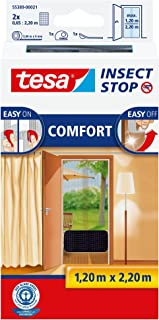 TESA Insect Stop Comfort Red Anti Mosquitos Puerta Plata - Mosquiteras (2200 x 60 x 1200 mm, Plata, 454 g)