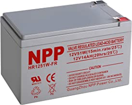 NPPower 12V 14Ah 12Volt 14amp Sealed Lead Acid Rechargeable Battery with F2 Style Terminals