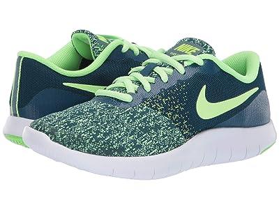 Nike Kids Flex Contact (Big Kid) (Blue Force/Lime Blast/Barely Volt) Boys Shoes