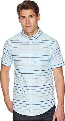Short Sleeve Satin Stripe