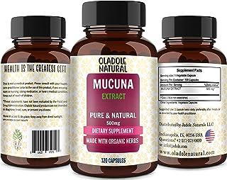 Oladole Natural Mucuna, Kapikachhu, Made with Organic Herbs, Promotes Dopamine, 500 mg, 120 count