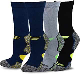 TeeHee Viscose from Bamboo Diabetic Crew Socks 3-Pack (10-13, Dark)
