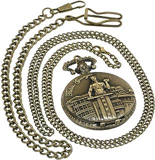 ساعة جيب كبيرة من الكوارتز العتيق العتيق العتيق لقبيلة القبيلة القديمة ساعة Fob Hunter