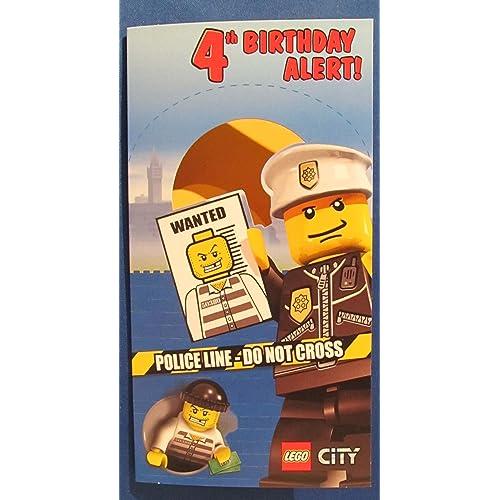 Happy 4th Birthday Lego Greetings Cards