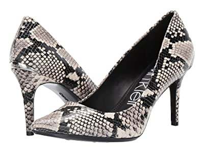 Calvin Klein Gayle Pump (Natural Two-Tone Snake) High Heels