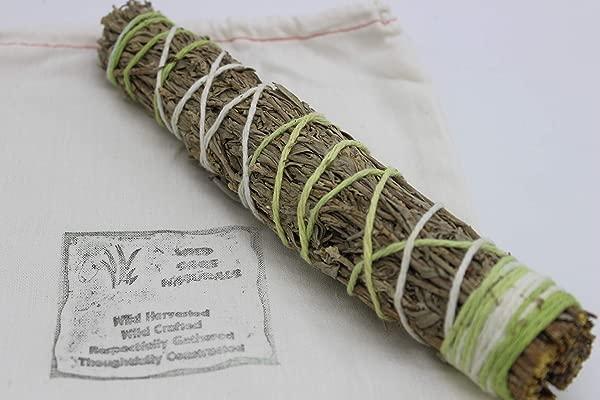 Wild Sage Naturals 9 Ceremonial Sage Sweetgrass And Lavender Smudge Stick