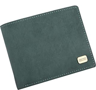 Hammonds Flycatcher Light Turquoise Vintage Leather Wallet for Men|10 Card Slots| 1 Coin Pocket|2 Hidden Compartment|2 Currency Slots|1 ID Compartment
