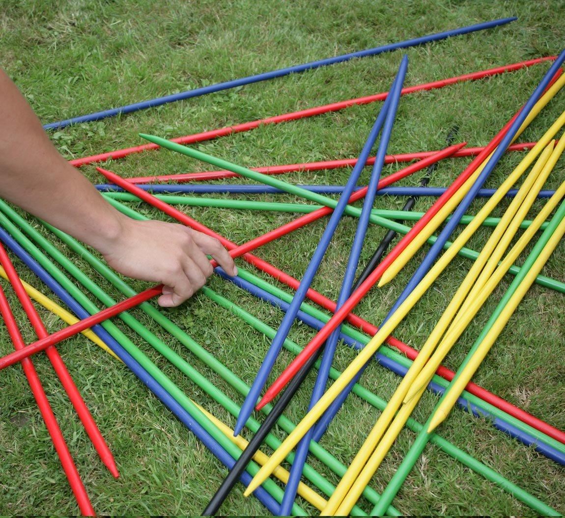 Forestfox - Juego de 25 palos gigantes para recoger, madera maciza, para jardín, al aire libre, familia divertida: Amazon.es: Hogar