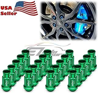 EZAUTOWRAP Green 20 PCS M12x1.5 Lug Nuts Short 50mm Tuner Open End Aluminum Wheels Rims Cap WN01