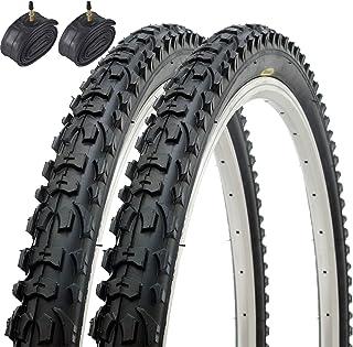 comprar comparacion Fincci Par Híbrida Plegable Neumáticos de Bicicleta de Montaña Cubiertas 26 x 1,95 53-559 y Presta Tubos Interiores