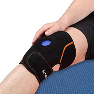 Kinetic Labs Knee Ice Pack Wrap – Reusable Hot/Cold Therapy Gel Pack – Injury Rehab, Sport Comfort, Promote Natural Movement – Elbow/Knee Strap Brace Support with Adjustable Compression Sleeve