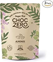 ChocZero's Keto Bark, Dark Chocolate Almonds with Sea Salt. Sugar Free, Low Carb. No Sugar Alcohols, No Artificial...
