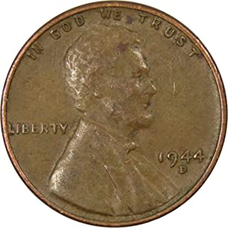 1944 D 1c Lincoln Wheat Cent Penny US Coin Average Circulated