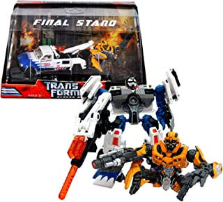 Hasbro Year 2007 Transformers Movie Screen Battles Series Robot Action Figure Set - FINAL STAND with Deluxe Class 6 Inch Tall LONGARM (Vehicle Mode: Tow Truck) Plus Bumblebee with Battle Damage (Bumblebee Does Not Convert)