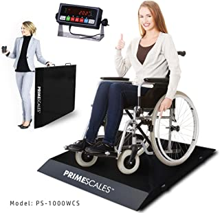 Prime Scales PS-1000WCS Ultra-Portable Light Weight Wheelchair Scale