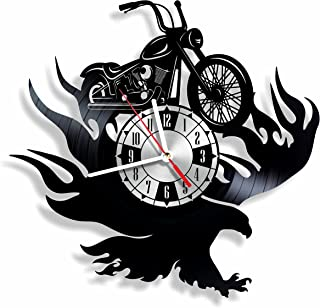 NiceIdeas4Home Legendary Chopper Wall Clock Made from Vintage Vinyl Record Wonderful Handmade Gift for Your Loved one