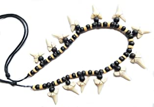 Swimmi 13! Mako Shark Tooth Wooden Beads necklace 20