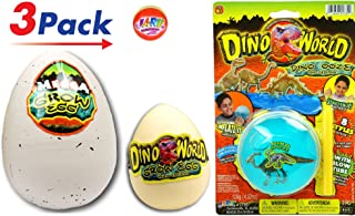 JA-RU Jurassic Hatching Egg & Dino World Blowing Stress Slime Dinosaur Surprise Ooze (3 Games Pack) New Novelty Stress Slime and Egg Great Party Toys. Item #1745-1747-1735