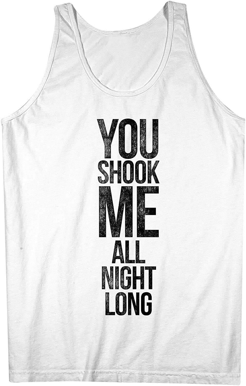 You Shook Me All Night Long 素敵 Song Lyrics 男性用 Tank Top Sleeveless Shirt