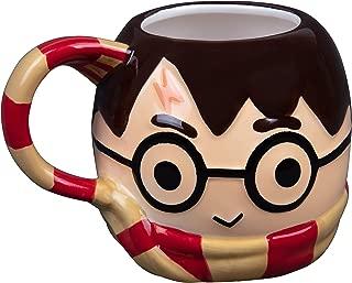 Harry Potter Figural Coffee Mug, 24 oz - Cute Chibi Design with Gryffindor Scarf Handle - Ceramic