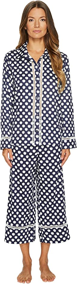 Kate Spade New York - Cotton Sateen Cropped Pajama Set