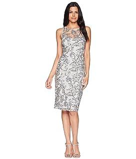 Sleeveless Sequin Sheath Cocktail Dress