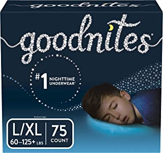 Goodnites Bedwetting Underwear for Boys, Stock Up Pack, Large/X-Large, 75 Count