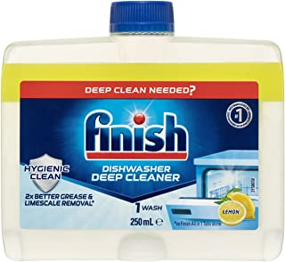 Finish Dishwasher Cleaner Liquid, Lemon Sparkle, 250ml, 1 Pack