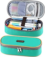 Homecube Pencil Case Big Capacity Pencil Bag Makeup Pen Pouch Durable Students Stationery with Double Zipper Pen Holder fo...